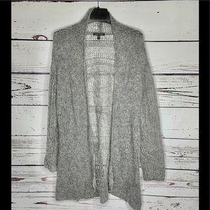 EILEEN FISHER Gray Alpaca Long Cardigan Sweater
